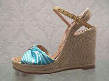 New KATE SPADE Platform Ladies Shoes, Platform Sandals Blue, Uk 5, Eu 38