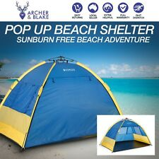 Pop Up Beach Shelter Tent Camping Foldable Travel + Carry, Bag, Protection, Camp