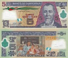 Guatemala 5 Quetzales (11.5.2011) - Polymer Note/p122b UNC