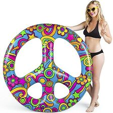 BigMouth Inc - PEACE SIGN Inflatable Swimming Pool Summer Float Raft Tube
