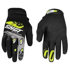 Shot Adult Contact MX Motocross Gloves Shadow Grey Neon Yellow - Large
