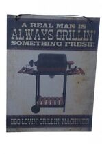 BBQ Outdoor Grill Funny Manly Patio Art Picture Mens Fathers Day Gag Gift NEW