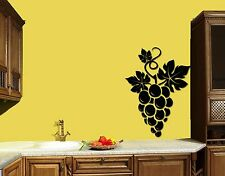 Wall Stickers Vinyl Decal Grape Fruit Vine Cute Decor For Kitche (z1761)