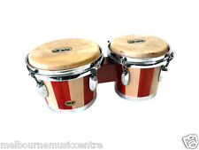 BONGO DRUMS Percussion Set  with Natural Skin Heads NEW