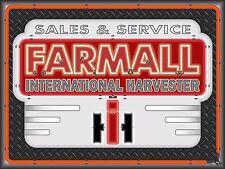 FARMALL INTERNATIONAL HARVESTER TRACTOR DEALER NEON STYLE BANNER SIGN ART 4 X 3