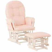 Nursery Glider Rocking Chair Ottoman Swing Girls Pink Baby Rocker Furniture New