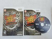 Guitar Hero: Warriors of Rock (Nintendo Wii, 2010) Complete w/Manual