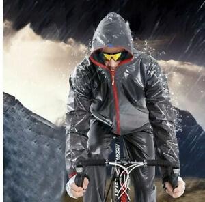 Waterproof MTB Cycling Riding Running Raincoat Rain Jacket le Tour de France L