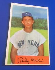 1954 Bowman Billy Martin #145 New York Yankees Baseball Card NM