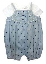 Jasper Conran Baby Girl Romper Dungarees White T Shirt Top Summer 3-6 Months