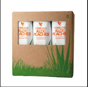 Forever Living Aloe Peaches drinking gel TRIPACK-Aloe Vera (3x1L)-immune support