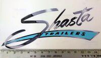 """Vintage Shasta large Blue trailer RV sticker decal 15""""x6.5"""""""