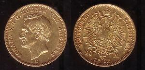 20 Mark Gold Sachsen 1872, selten