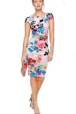 Lipsy 10  Floral Low Back Midi Bodycon Summer Dress Brand New. Stunning!