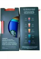 STARBUCKS COLOR CHANGING SUMMER PRIDE 2020 COLD CUPS REUSABLE 5 PACK NIB