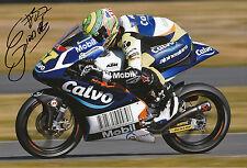 Eric Granado mano firmado Calvo equipo Ktm 12x8 Foto 2014 Moto3.
