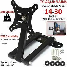 TV Wall Bracket Mount Swivel Tilt 14 16 19 21 23 26 30 inch Flat LED LCD Monitor