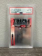 1993 Upper Deck Michael Jordan Triple Double #TD2 PSA 8 NM-MT Chicago Bulls