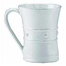 Juliska Berry and Thread Ceramic Coffee Mug Whitewash 12 Ounces 1