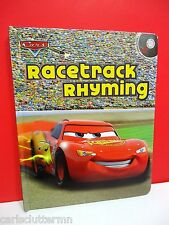 Disney Pixar Cars Racetrack Rhyming Childrens Board Book & Audio CD 2010 McQueen
