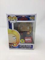 Funko Pop! Marvel Captain Marvel GITD Collector Corps #446 + Pop Protector