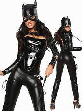 WOMENS LADIES SEXY CAT SUIT COSTUME FANCY DRESS PARTY  HERO HALLOWEEN