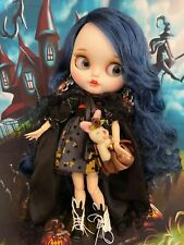 Customized Blythe,Dressed  Doll for Halloween  Teeth, w/ her Friend  Icy doll.