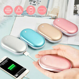 Women Portable 2 in 1 Rechargeable Mini USB Hand Warmer Power Stove Warmers UK