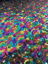 3mm MINI SEQUIN Fabric stretch material - Sparkling or Matt Sequins 130cm wide