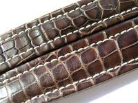 Breitling Band P601 18mm Croco braun brown marron Strap für Faltschliesse 010-18