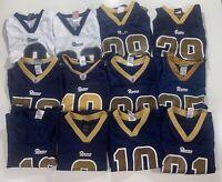 LOT OF 26 KIDS NFL FOOTBALL JERSEYS ST LOUIS LOS ANGELES RAMS