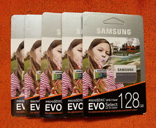 Lot of 2 Samsung Evo Select 128GB Micro SDXC UHS-1 Class 10 SD Flash Memory Card