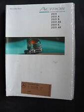 50 Stück OVP Paket Konvolut Mercedes-Benz Actros 2031 Prospekt Brochure 12.1998