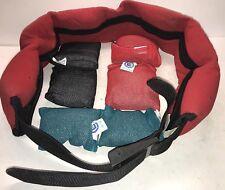 M&M Neoprene 7 Pocket Sz. Lrg 20lb Weight Belt w/ 6x Lead Soft Bag Weights 2 3 5