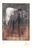 Llop - figuras místicas - grabado aguafuerte 34x27 original