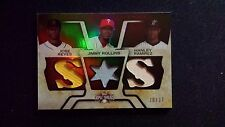 08 Triple Threads Reyes Rollins Ramirez Game Used Jersey Marlins Giants #20/27