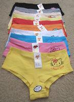 Lot Kiss Me I Love You Kisses Boyshorts Lace Bikini Spandex COTTON Panty S-XL