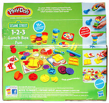 Play-Doh Playdoh Sesame Street 1-2-3 Lunch Box Fun Food Set New/Sealed 37138