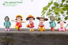 6pcs/set studio Ghibli Neighbor Totoro Spirited Away Satsuki Mei Mini figures