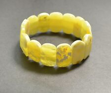 Natural Baltic Amber Yellow bracelet Sold by manufacturer. 18.5 gr  TA-1453