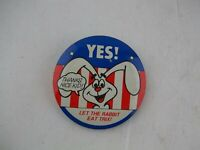 Vtg 1970's YES Let the Rabbit Eat Trix, Cereal Comic Promo Button Pinback Pin