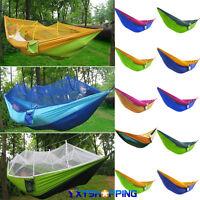 Outdoor Hammock Nylon Travel Beach Camping Hang Bed Garden Yard Sleeping Swing