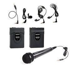 Movo WMIC60 2.4GHz Wireless Lavalier & Handheld Microphone System ~ 164' Range