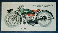 P & M  PANTHER  Motorcycle  Original 1923 Vintage Card