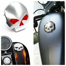 Chrome Skull Gas Cap For Harley Sportster Dyna Softail Fuel Cap FXD FL XL FLT
