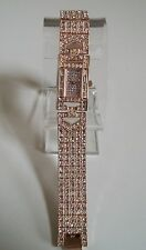 Designer Rose Gold Finish Fashion Hip Hop Bling Women's Party Wear Watch