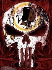 (2) Washington Redskins Punisher Skull Car Window Stickers 5x3.5 Glossy Decal