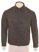 GIANFRANCO FERRE Mens Harrington Jacket Size 40 Large Black Polyester  HE16