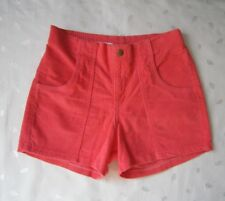 American Apparel High Waisted Corduroy Shorts in Neon Pink Size 29 / W26 ~ NWOT