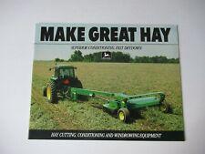 1991 John Deere Hay Mower Rakes Cutting Conditioner Windrower Equipment Brochure